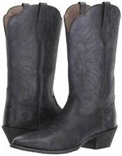 Ariat Women's Heritage Western R Toe Boot 10025118, Distressed Black, Size 10B