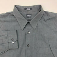 Arrow Button Up Shirt Mens 2XLT Wrinkle Free Gray Long Sleeve Casual XXLT