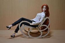 Furniture for Dolls 1/6 1:6 Rocking chair 1pcs Barbie, Fashion Royalty, Momoko