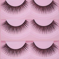 2Pcs Natural Sparse Cross Eye Lashes Extension Makeup Long False Eyelashes