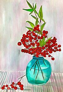 ORIGINAL ART - Red Berries