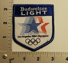 1984 OLYMPICS BUDWEISER LIGHT BUD VINTAGE EMBROIDERED PATCH