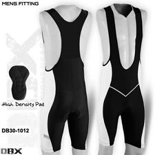 Mens Cycling Tights Bib Shorts Hi-Density Padded MTB Bike Legging White S,M,L,XL