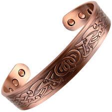 Copper Magnetic Bracelet Viking Design 6 Magnets Health RARE Earth NdFeB