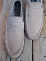 COLE HAAN Mens Casual Dress Shoes Tan Buck Leather Moccasin Loafers Size 11.5M