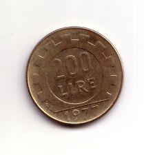 Repubblica Italiana  200 lire 1977  Lavoro  bronzital   BB