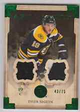 Tyler Seguin 13/14 UD Artifacts Dual Jersey / Patch Emerald  /75