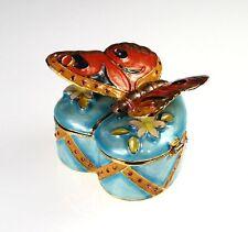 Beautiful Enamel Butterfly Trinket Pot & Necklace(63-127-HTBUTT)