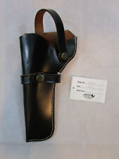BLACK LEATHER RUGER GP100 KING COLT COBRA GUN WESTERN HOLSTER REVOLVER CASE