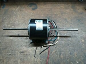 1/3 HP 208-230VAC Single Phase Electric Motor 3-Speed Dual Output Shaft