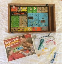 Vintage Electronic Project Kit -160 in One- Science Fair Ages 10 & Up w/Manual