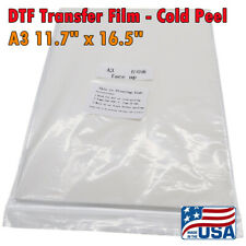 Us Stock A3 117 X 165 Dtf Transfer Film Cold Peel 100 Sheetspack