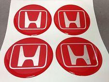 HONDA Autocollant Sticker Centre de Roue Cache Moyeu Jante Silicone 4 x 60mm