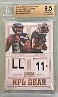 Russell Wilson Nick Toon Panini National Treasures NFL Gear /49 RC BGS 9.5 Gem