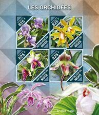 Niger - 2015 Orchids on Stamps - 4 Stamp Sheet - NIG15517a