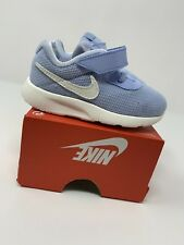 BABY GIRLS: Nike Tanjun Shoes, Light Blue - Size 6C 859620-401