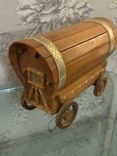 Vintage Handmade Wooden Bow Top Gypsy WoodenCaravan Model 10inchs