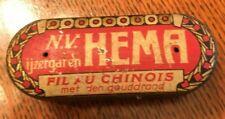 Small Size Vintage European Tin _ Deco Design _ Unusual Shape _ Netherlands