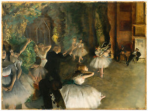 """Impressionism """"The Rehearsal of the Ballet Onstage"""" Edgar Degas ca. 1874"""
