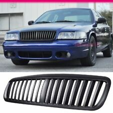 Fits 98-11 Ford Crown Victoria Front Vertical Black Hood Grille ABS