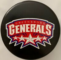 GREENSBORO GENERALS ECHL EAST COAST HOCKEY LEAGUE RARE OFFICIAL GAME HOCKEY PUCK