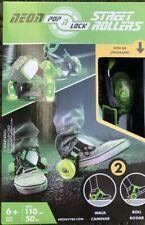 Neon Pop n Lock Street Rollers Lime Green Age 6+ Walk Or Roll New Skates