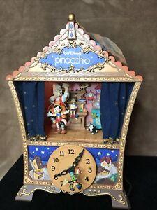 1995 Enesco Small World Of Music Illuminated Pinocchio Music Box *READ!