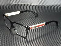 GUCCI GG0466Oa 001 Rectangular Square Black Demo Lens 56 mm Men's Eyeglasses