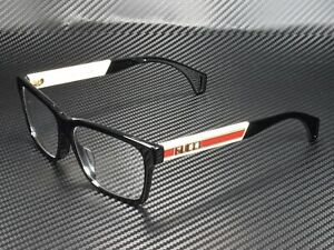 GUCCI GG0466Oa 001 Rectangular Square Black Demo Lens 56 mm Men's Eyeglasses