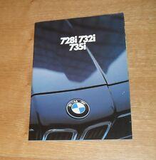 BMW 7 Series Brochure E23 728I 732I 735I 1981