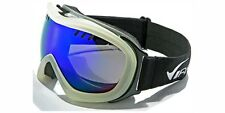 New Snowmobile Ski Virage 100% UV400 Goggles Rubberize Gray Smoke & White Frame