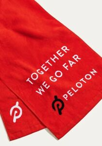 Genuine Peloton Core Sweat Towel 2.0 Gym Exercise Workout Red