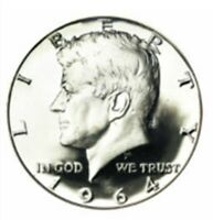 1964-P Kennedy 90% SILVER    Half Dollar     GEM Brilliant Uncirculated  ( BU )