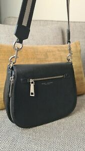 Marc Jacobs Crossbody Large Recruit Nomad Leather Crossbody Bag In Black colour
