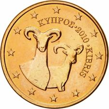 [#580439] Cyprus, 5 Euro Cent, 2010, FDC, Copper Plated Steel, KM:80
