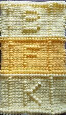 Alphabet Child Bobble Crochet Blanket Handmade