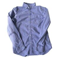 Old Navy Button Up Shirt Mens Long Sleeve Small Blue Regular Fit Striped Casual