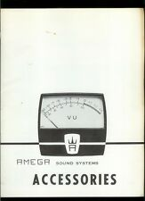 Rare Amega Sound System Accessories For Motion Picture Studios Dealer Catalog