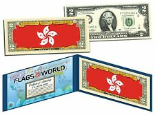 HONG KONG - FLAG SERIES $2 U.S. Bill - Genuine Legal Tender Bank Note