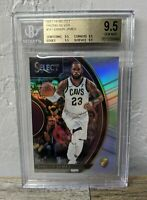 Lebron James 2017/18 PANINI SELECT #18 SILVER PRIZMS BGS 9.5 TRUE Gem Mint