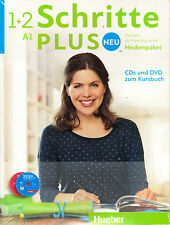 Hueber SCHRITTE PLUS NEU 1+2 Medienpaket A1 CDs & DVD zum Kursbuch 2016 Edit NEW
