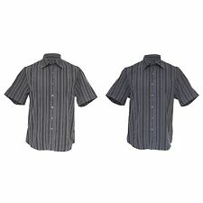 Collared Short Sleeve Striped Casual Shirts & Tops for Men