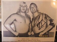 Signed WWE Hall Of Famer Jimmy Valiant 8x10 70s Picture With Johnny Valiant