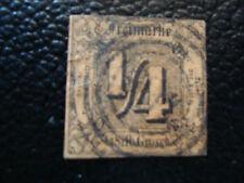 ALLEMAGNE (tour et taxis etat du nord) timbre yt n° 1 obl (A4) stamp germany