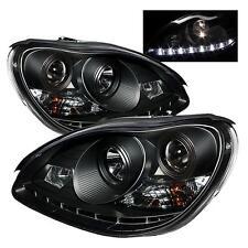 Projector Head Lights Lamps Mercedes Benz W220 S Class 2000-2006 DRL LED - Black