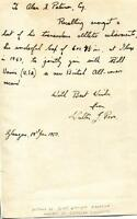 19/01/1950 Athletics: Walter J. Ross - A Single Page From a book, hand written n