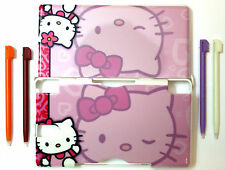 Hello Kitty DS Lite Hard Protective Game Case 4 FREE DS STYLUS PENS Kids Toys