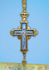 Orthodox Pectoral Cross 6cm x 13cm With Hand Made Enamel Body Of Christ