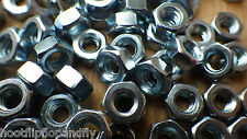 "100 x 1/4"" BSW WHITWORTH  HEXAGONAL BZP NUTS BRIGHT ZINC PLATED FULL NUT"