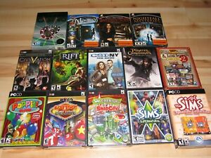 14 PC Computer Games Lot All Brand New Factory Sealed Sims Civilization Rift